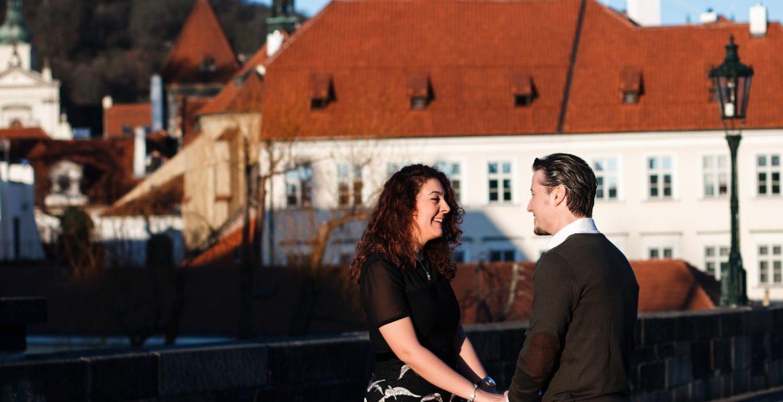 Предложение руки и сердца в Праге